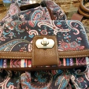 Euc Union Bay sling bag with matching wallet